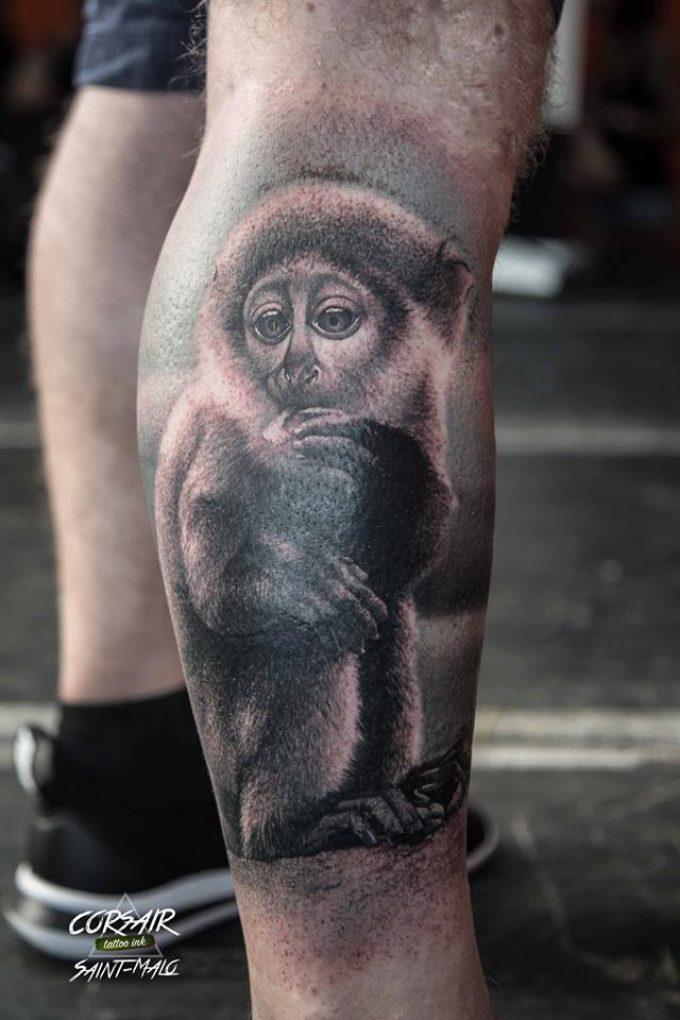 Les tatouages d'animaux réalisés pendant le Corsair Tattoo Ink 2018